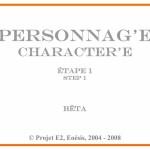 Cartel : Personnag' E « 1 »