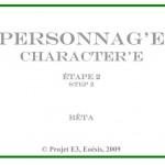 Cartel : Personnag' E « 2 »