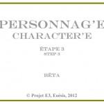 Cartel : Personnag' E « 3 »