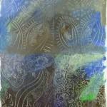 Projet E3 – Paysag'E, β. (Bêta) 533. 01. 2012. Acrylique sur papier. 65 x 50 cm. (Project E3 – Landscap'E, β. (Beta) 533. 01. 2012. Acrylic on paper, 25.5 x 19.6 inches.)