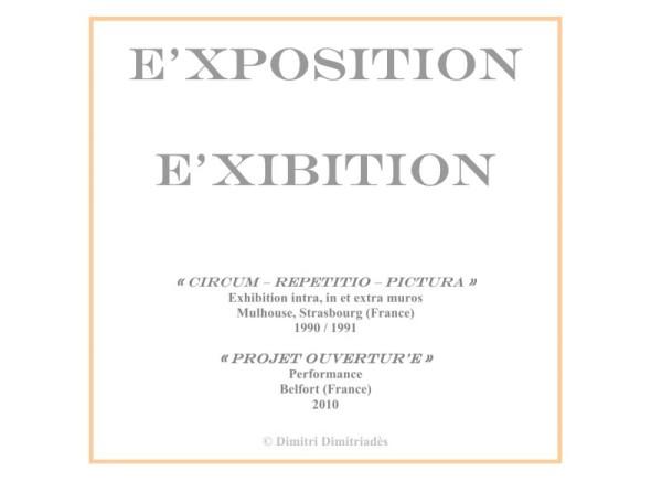 Cartel : E'xpositions (E'xhibitions)