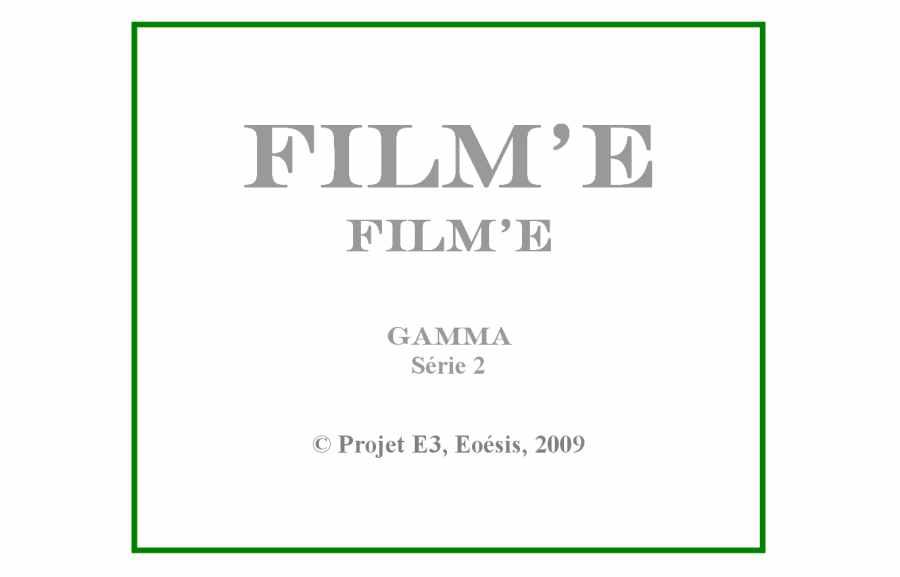 Cartel : Film'E, série 2