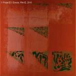 Projet E3 – Film'E, γ. (Gamma) 116. 2009. Acrylique sur toile. 60 x 60 cm. (Project E3 – Film'E, γ. (Gamma) 116. 2009. Acrylic on canvas, 23.6 x 23.6 inches.)