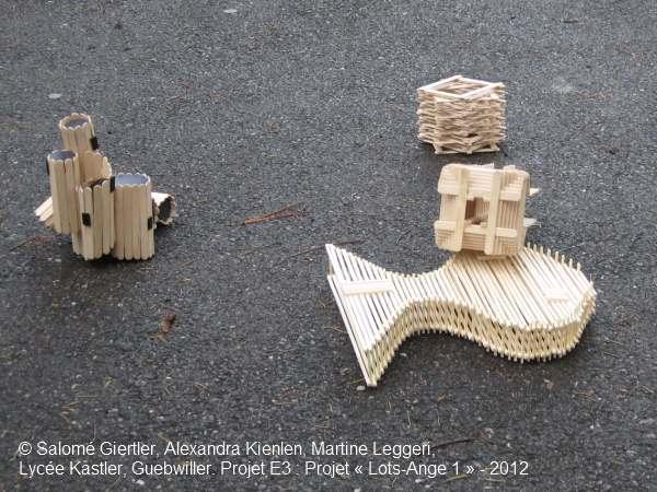 Projet E3 –Projet « Lots-Ange 1 », étape 4 - 2. 2012 (Project « Lots-Angel 1 », Step 4 - 2, 2012.)