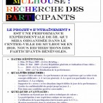 Projet E3 –Projet « Entraînement », L'Annonce 1. 2008 (Project « Training », The Announcement in french, 2008.)