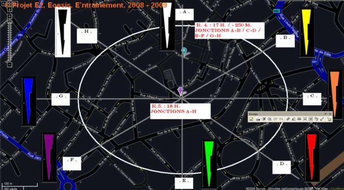 Projet E3 –Projet « Entraînement », Partition : Page A. 1. Espace 2. 2008. (Project « Training », Partition : Page A. 1. Space 2. 2008.)