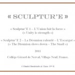 Cartel : Sculptur'E