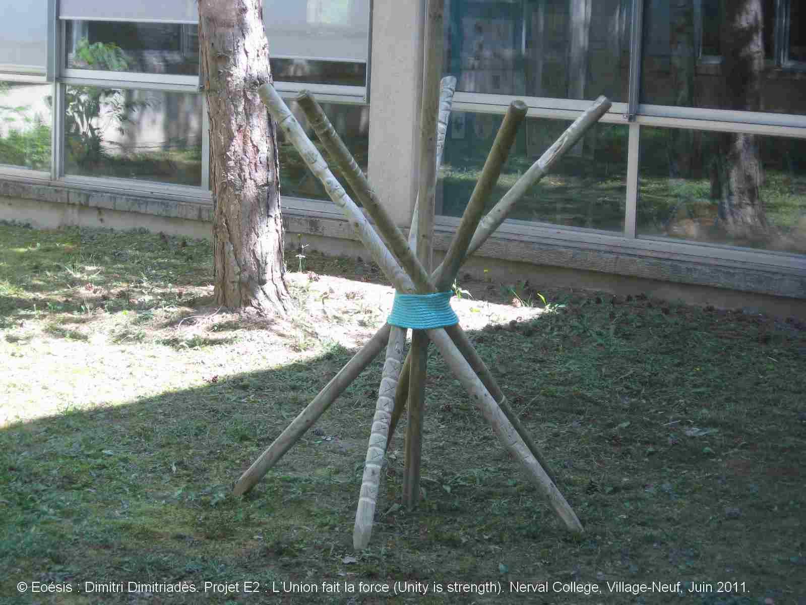 Dimitri Dimitriadès, Projet E3 –Projet «Sculptur'E1, L'Union fait la force », 2011. (Project «Sculptur'E 1, Unity is strength », 2011)