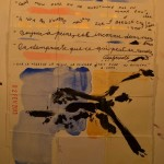Projet E3 – Projet «E'nvoi», étape 2: détail de l'écriture des poèmes. 2013. (Project «E'Card», step 2 : , 2013.)