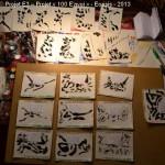 Projet E3 – Projet «E'nvoi», étape 4: peindre les formes. 2013. (Project «E'Card», step 4 : painting the forms. 2013.)