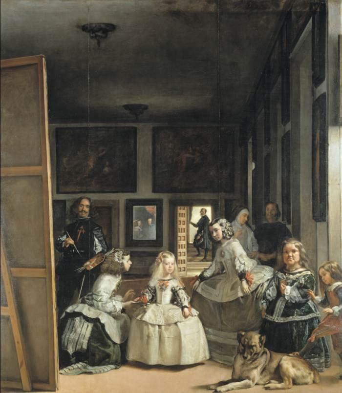 Les Ménines , de Diego Vélasquez ,1657. Las Méninas by Diego Velázquez, 1657.