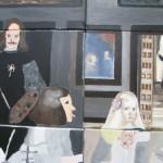 Les Ménines , Peinture sur toile 1. Las Méninas Painting on canvas 1