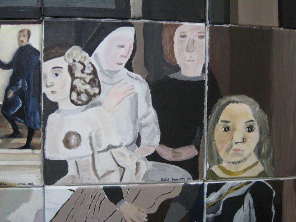 Les Ménines , Peinture sur toile 2. Las Méninas Painting on canvas 2