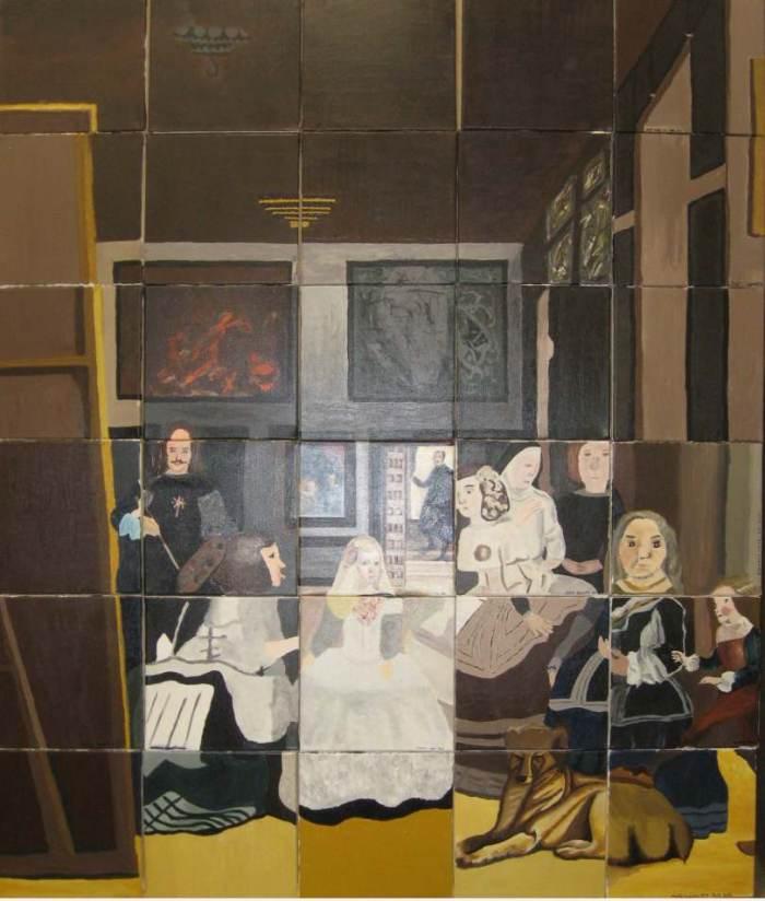 Les Ménines , Peinture sur toile 3. Las Méninas Painting on canvas 3