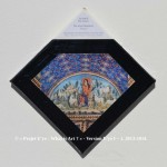«E'ye: What is art?» I – 1. 4. 2013 - 2014. Photographie argentique de 13 x 17 cm. Découpé et marouflé sur une toile de 20 x 20 cm. Bords en format de diamant noir. Cartel : 425. Inconnu. Le Bon Pasteur. Mosaïque. Mausolée de Galla Placidia, à Ravennes, Italie. Photo: Testus / wikimedia commons «E'ye: What is art?» I – 1. 4. 2013 - 2014. Analog photography of 5.1 x 6.7 in. Cut and maroufled on a canvas of 7.9 x 7.9 in. Edges in format of diamond, black color. Cartel : 425. Unknown. The Good Shepherd. Mosaic. Mausoleum of Galla Placidia, Ravenna, Italy. Photo: Testus / wikimedia commons